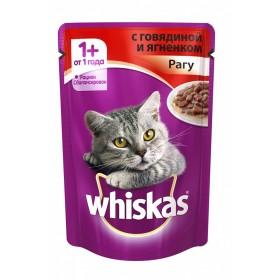 Whiskas с говядиной и ягненком рагу 1шт