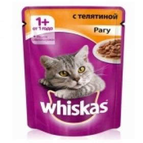 Whiskas с телятиной рагу 1шт
