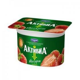 Активиа клубника йогурт 150гр