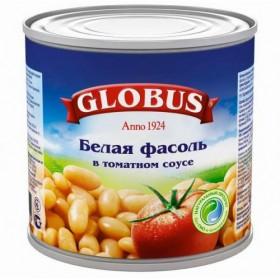 Globus фасоль белая в томатном соусе 425мл