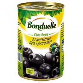 Bonduelle маслины черные без косточки 314мл