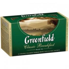 Greenfield Classic Breakfast чай черный 25 пакетиков