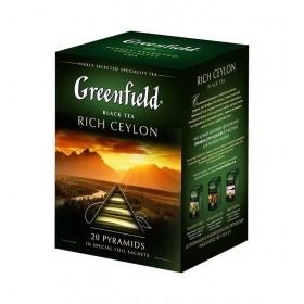 Greenfield Rich Ceylon черный чай 20 пирамидок
