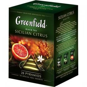 Greenfield Sicilian Сitrus черный чай 20 пирамидок
