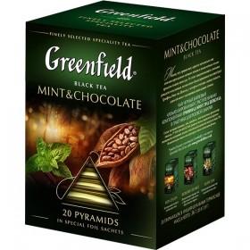 Greenfield Mint&Chocolate черный чай 20 пирамидок
