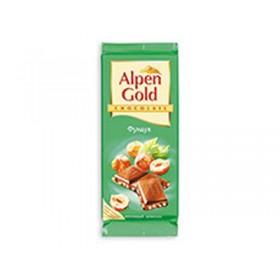 Alpen Gold фундук шоколад молочный 90гр