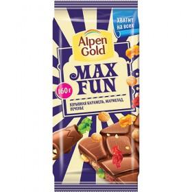 Alpen Gold Max Fun Взрывная карамель шоколад 160гр