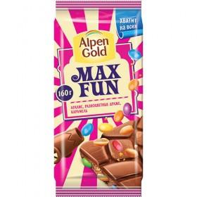 Alpen Gold Max Fun С арахисом и карамелью шоколад 160гр.