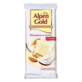 Alpen Gold кокос-миндаль шоколад белый 90гр