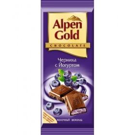 Alpen Gold черника с йогуртом шоколад молочный 90гр