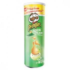 Pringles sour cream & onion чипсы 165г