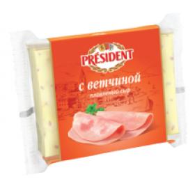 President с ветчиной сыр плавленый 150г