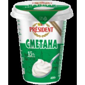 President 15% сметана 400гр